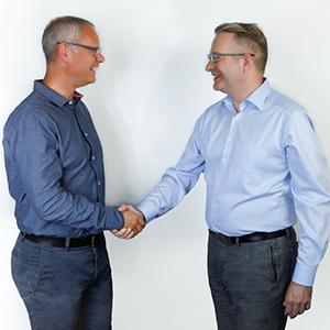 Philipp Kronen Managing Partner Igedo Company & Thomas Stenzel CEO Messe Düsseldorf Moscow