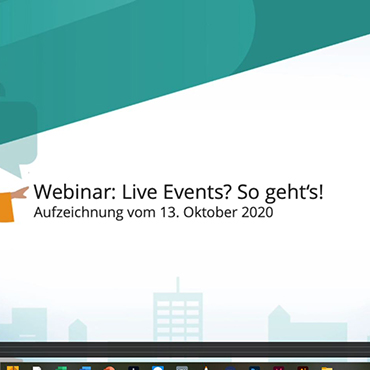 Rückblick Webinar: Live Events? So geht's! Fallbeispiel Gallery FASHION & SHOES